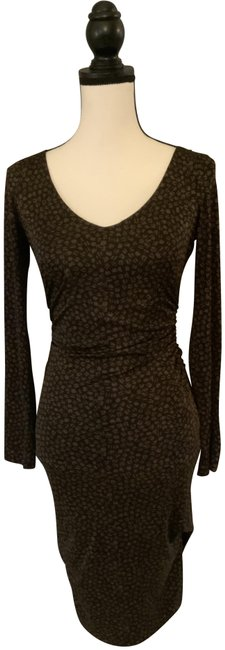 Item - Brown Mid-length Cocktail Dress Size 4 (S)