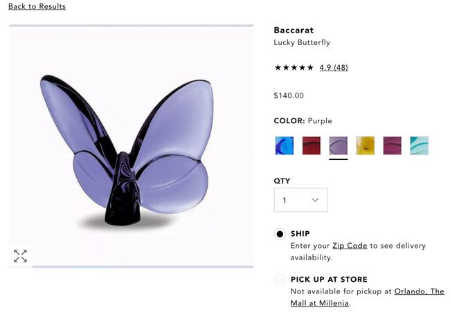 Item - Purple Never Opened Butterfly