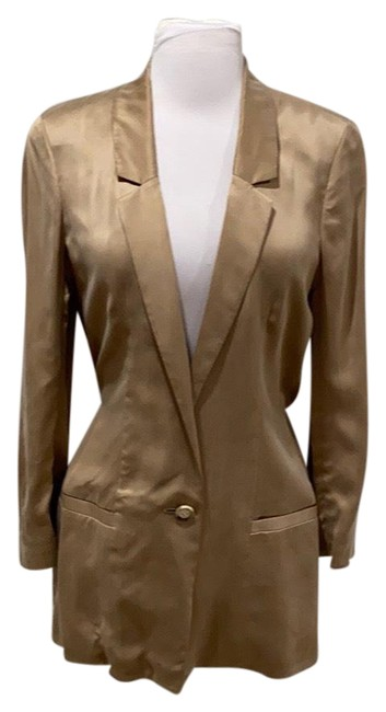 Item - Tan Neutrals Blazer Size 6 (S)