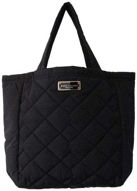 Item - New Quilted Large Msrp Black Polyester Tote