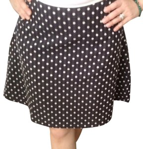 Max Studio Skirt Black With White Polkadot