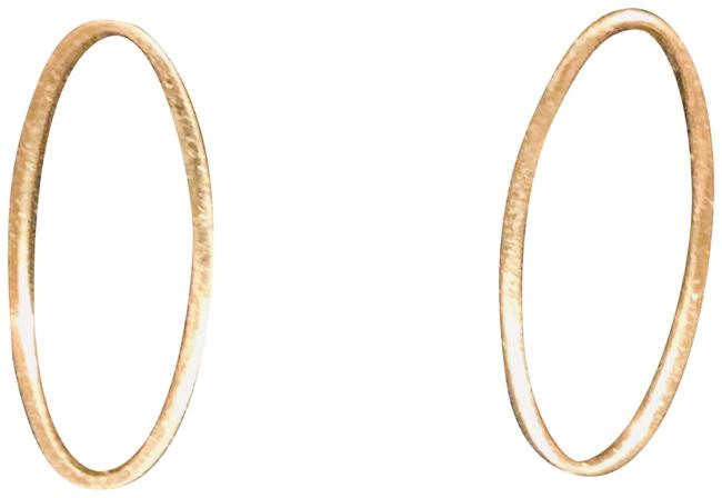 Item - Yellow Gold 14l Oval Post Earrings