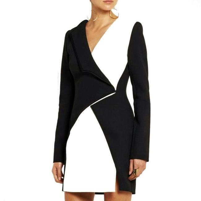 Item - Black/White Runway Short Night Out Dress Size 6 (S)