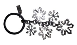 Coach Reduced! Coach Snowflakes Key Ring