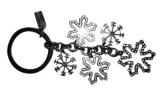 Preload https://item2.tradesy.com/images/coach-silver-and-white-reduced-snowflakes-key-ring-28561-0-0.jpg?width=440&height=440