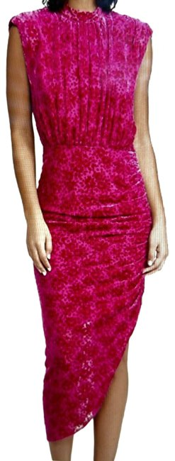 Item - Hot Pink Veronica Beard Mid-length Night Out Dress Size 6 (S)