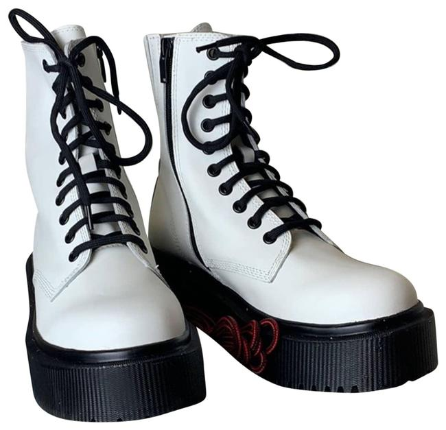 Item - White Combat In8 Boots/Booties Size US 8 Regular (M, B)