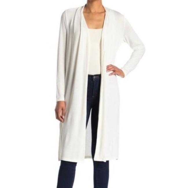 Item - White Solid Knit Cardigan Size 8 (M)