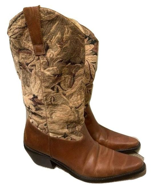 Item - Brown Leather Cowgirl Boots/Booties Size US 6 Regular (M, B)