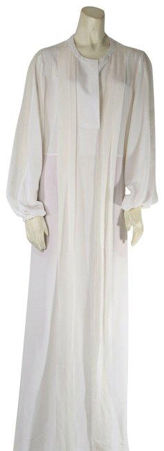 Item - White Runway Kalila Sheer Silk Sleeve Night Gown Long Casual Maxi Dress Size 6 (S)