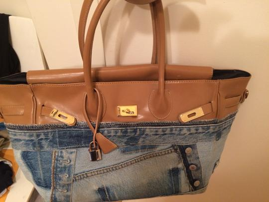 Other Tote in blue and beige