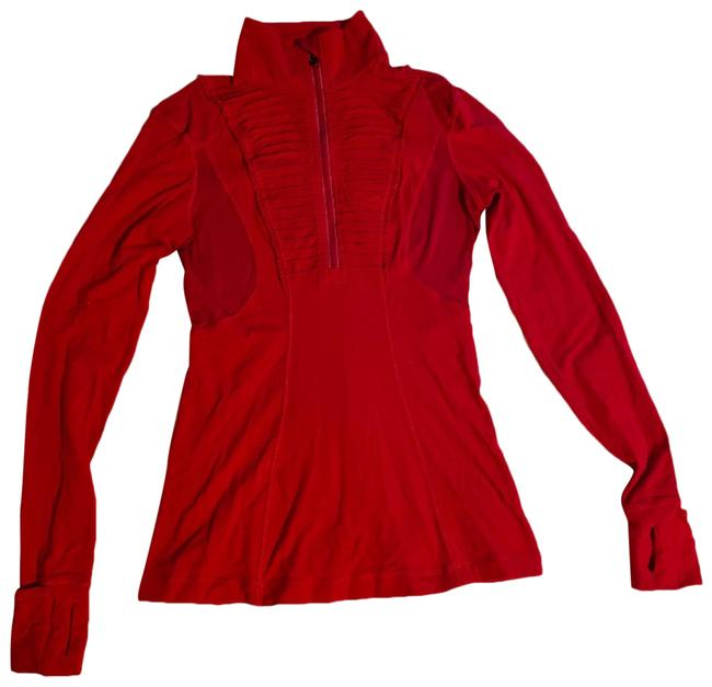Item - Red Run Your Heart Out Activewear Top Size 4 (S)