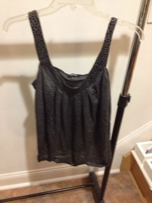 Express Top Black Silver and Gray