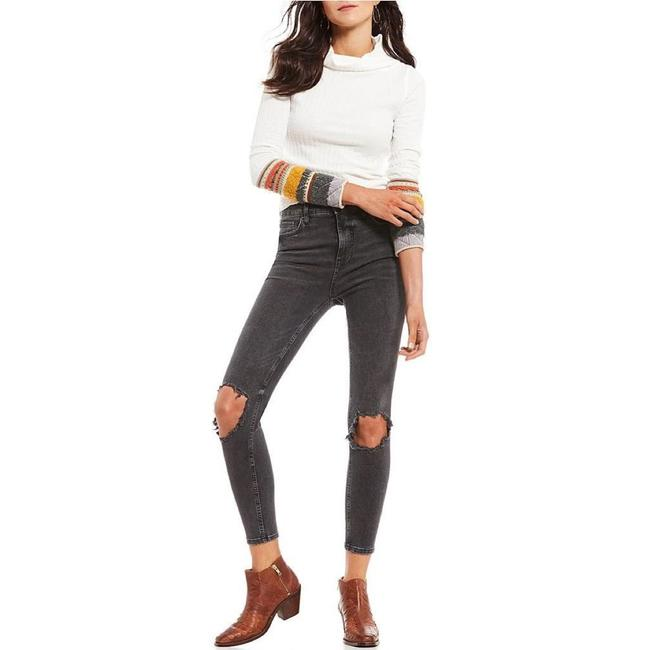 Item - Charcoal Black Distressed High Rise Busted Skinny Jeans Size 26 (2, XS)