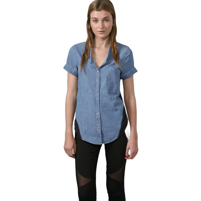 Item - Blue Chambray Combo Button Up Medium Button-down Top Size 8 (M)