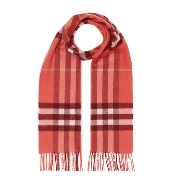 Burberry Clay Sienna Giant Check Cashmere Scarf/Wrap Burberry Clay Sienna Giant Check Cashmere Scarf/Wrap Image 1