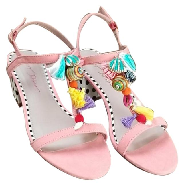 Item - Pink Yellow Dynah Coral Sandals Size US 8 Regular (M, B)
