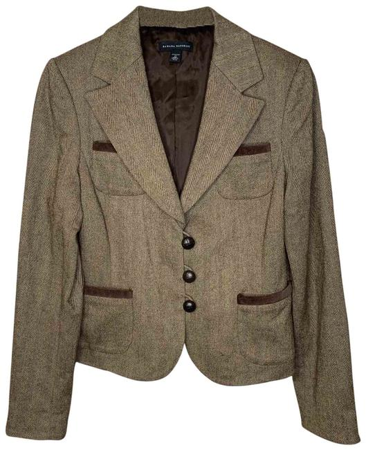 Item - Brown Herringbone Blazer Size 10 (M)
