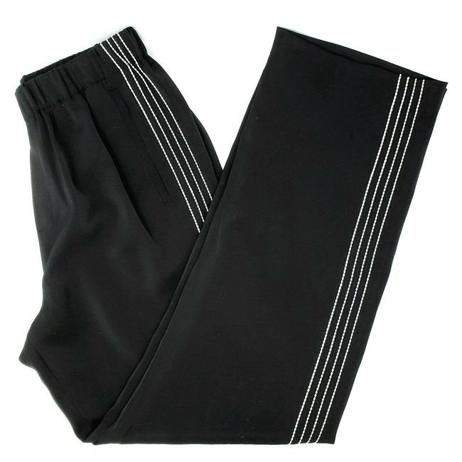 Item - Black and White Trousers S High Rise Contrast Stripe Pants Size 6 (S, 28)