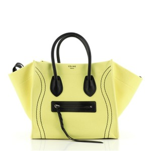 Item - Cabas Phantom Large Yellow Canvas (Plain) Tote