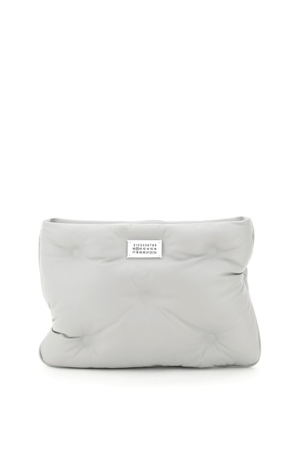 Item - Slam Leather Grey Clutch