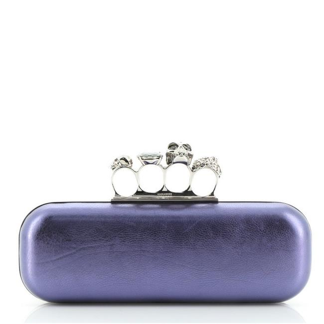 Item - Purple Leather Clutch