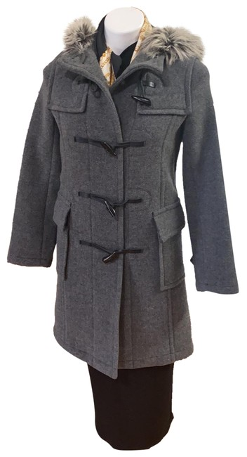 Item - Gray Pea with Hoodie Fits Extra Small Coat Size 2 (XS)