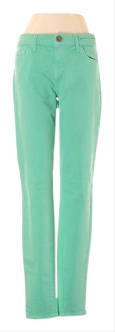 Item - Green Light Wash Current/ The Ankle Winter Skinny Jeans Size 0 (XS, 25)