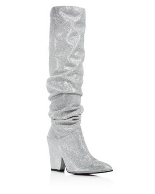 Item - Silver Smashing Scrunch Aso Celeb Boots/Booties Size US 6 Regular (M, B)