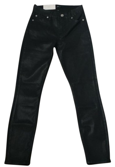 Item - Black Coated The Ankle Skinny Jeans Size 23 (00, XXS)