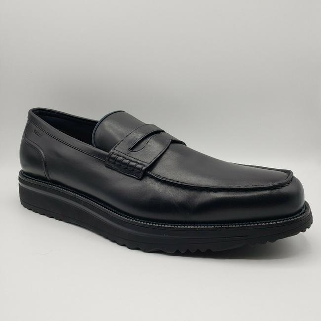 Item - Black W Leather Slip On Loafer Dress W/Rubber Sole Us 11.5d/10.5 Eu Shoes
