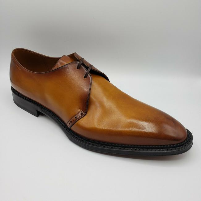 Item - Yellow Brown Shaded Smooth Leather Oxford Dress Us 12d/11 Eu Shoes