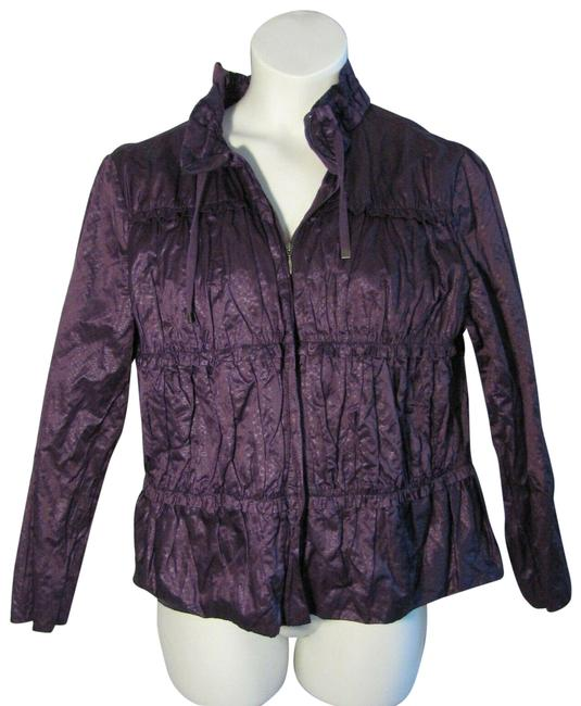 Item - Purple L Large Shimmer Zip Front Jacket Size 12 (L)