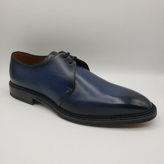 Item - Shaded Blue Men Smooth Leather Oxford Dress Us 9.5eee/8.5 Eu Shoes