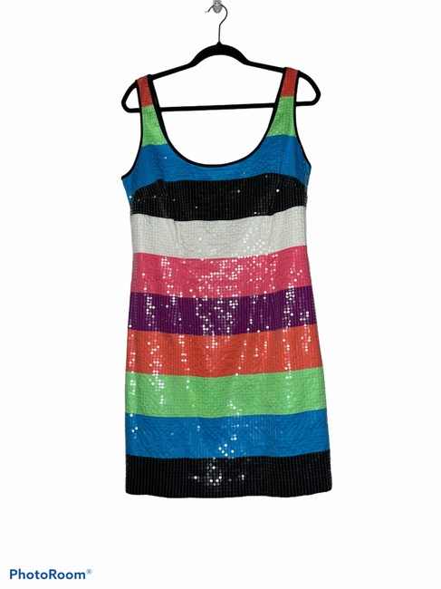 Item - Multi Color Stripes Mid-length Night Out Dress Size 10 (M)