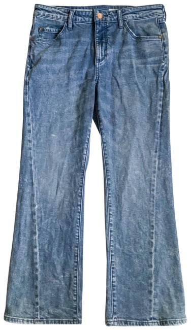 Pilcro and The Letterpress Light Wash Anthropologie Chambray High Rise Flare Leg Jeans Size 8 (M, 29, 30) Pilcro and The Letterpress Light Wash Anthropologie Chambray High Rise Flare Leg Jeans Size 8 (M, 29, 30) Image 1