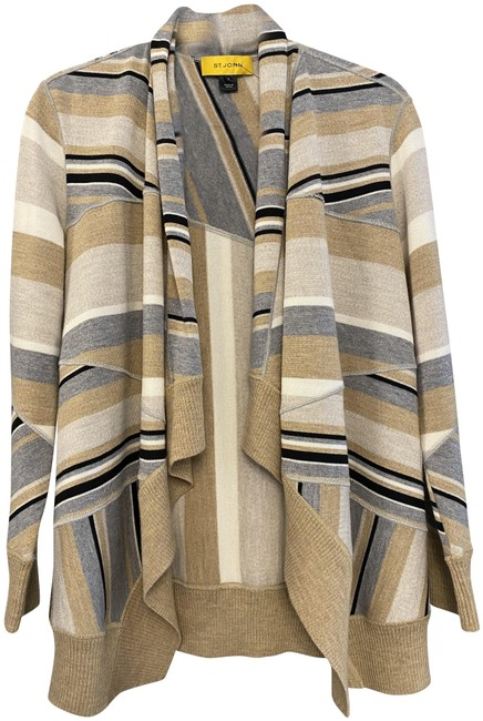 Item - Multi Color Open Front Long Sleeve Knit Cardigan Size 2 (XS)