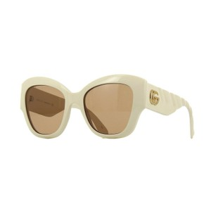Item - 002 Ivory New Gg0808s with Brown Lenses 53mm Sunglasses