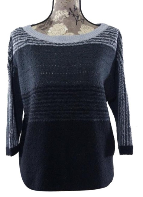 Item - Ombre Womens Wool Black Gray Sweater