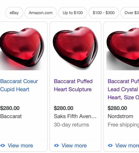 Baccarat Red Coeur Crystal Cupid Heart Other Baccarat Red Coeur Crystal Cupid Heart Other Image 7