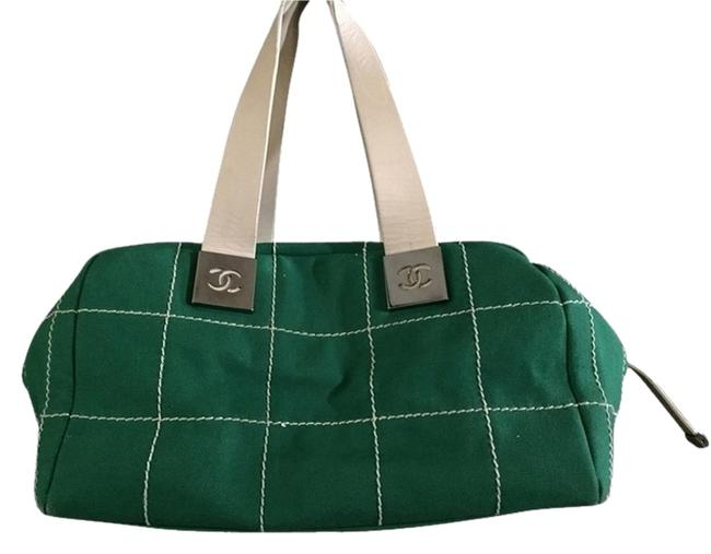 Item - Medium Purse Green Canvas Shoulder Bag