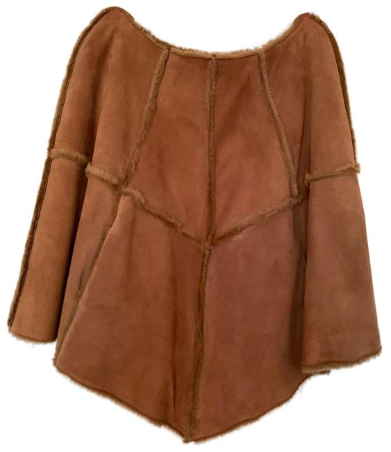 UGG Australia Brown Caramel Suede Poncho/Cape Size 6 (S) UGG Australia Brown Caramel Suede Poncho/Cape Size 6 (S) Image 1