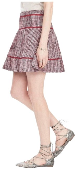 Item - Pink Tweed Flounce Skirt Size 4 (S, 27)