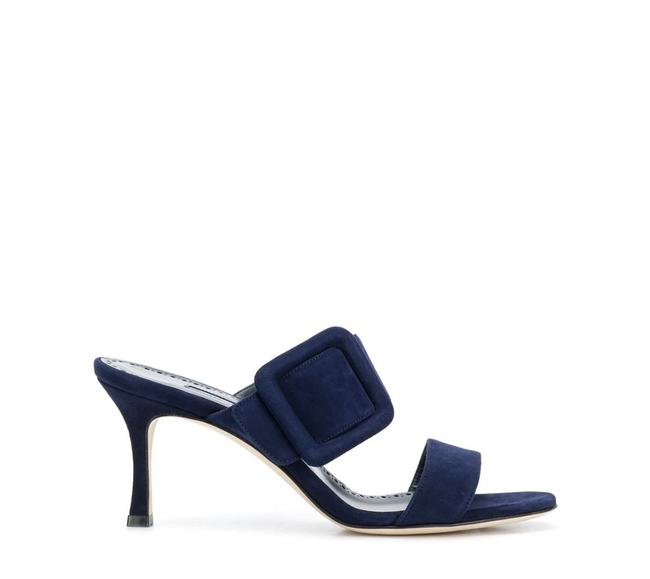 Item - Navy Suede Gable Sandals Size EU 40 (Approx. US 10) Regular (M, B)