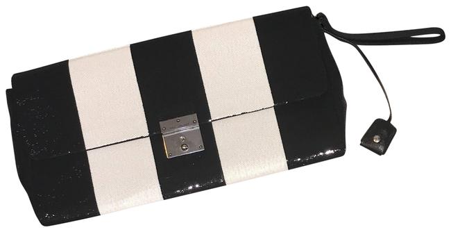 Item - Sequin Black and White Leather Clutch