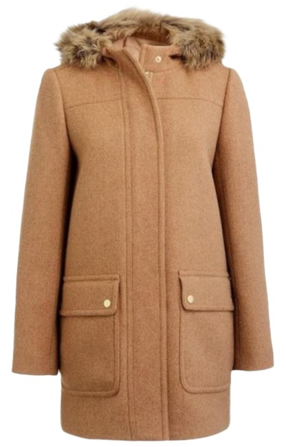 Item - Tan Chateau Wool Blend Parka Coat Size 8 (M)