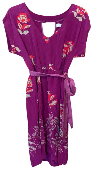Item - Purple Moulinette Soeurs Silk Mid-length Cocktail Dress Size 6 (S)