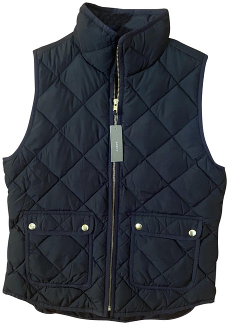 Item - Navy Blue Quilted Vest Size 6 (S)
