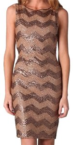 Alice + Olivia Sequin Party Coctail Tight And Dress