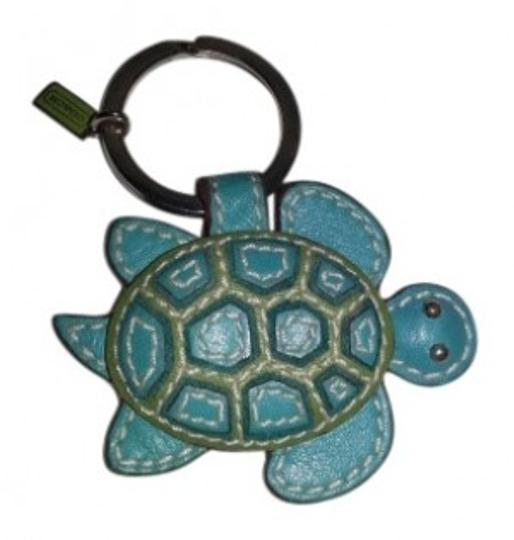 Preload https://img-static.tradesy.com/item/28567/coach-green-and-blue-sea-turtle-key-ring-0-0-540-540.jpg